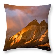Rainbow Mountain In The Storm Throw Pillow