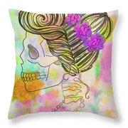 Rainbow Mrs. Throw Pillow