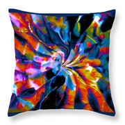 Rainbow Nebula Throw Pillow