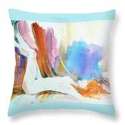 Rainbow Nude Throw Pillow