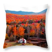 Rainbow Of Autumn Colors Throw Pillow