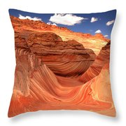 Rainbow Of Colors At The Wave Throw Pillow