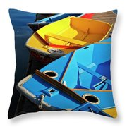 Rainbow Of Prams Throw Pillow