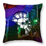 Rainbow Of Time Throw Pillow