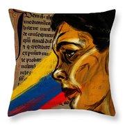 Rainbow Of Words Throw Pillow