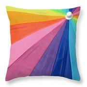 Rainbow On The Beach Throw Pillow