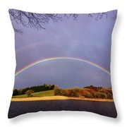 Rainbow On The Double Throw Pillow