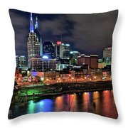 Rainbow On The River Throw Pillow
