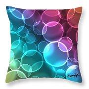 Rainbow Orbs Throw Pillow