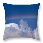 Rainbow Over Clouds Throw Pillow