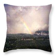 Rainbow Over Gunks Throw Pillow