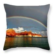 Rainbow Over Lake Powell Throw Pillow