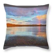 Rainbow Over Magalloway  Throw Pillow
