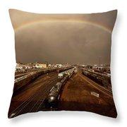 Rainbow Over Moose Jaw Saskatchewan Throw Pillow