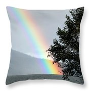 Rainbow Over Odell Throw Pillow