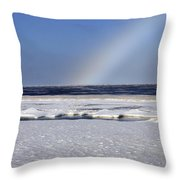 Rainbow Over The Arctic Throw Pillow