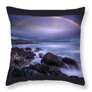 Rainbow Over The Biddeford Pool Throw Pillow