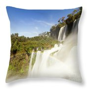 Rainbow Over The Waterfall Throw Pillow