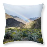 Rainbow Palm Throw Pillow