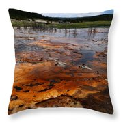 Rainbow Pool - Yellowstone Np Throw Pillow