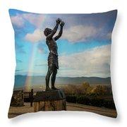 Rainbow Reach To The Sky  Throw Pillow