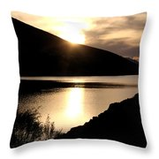 Rainbow Reservoir Throw Pillow