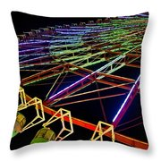 Rainbow Ride Throw Pillow