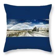 Rainbow Road - Id 16217-152040-7206 Throw Pillow