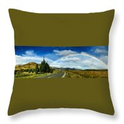 Rainbow Road - Id 16217-152055-0118 Throw Pillow