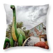Rainbow Rock Shop Throw Pillow