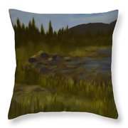 'rainbow Rocks' Throw Pillow
