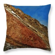 Rainbow Rocks Throw Pillow