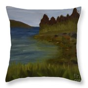 Rainbows On Cloudy Day Throw Pillow