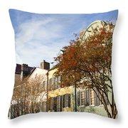 Rainbow Row Charleston Sc Throw Pillow