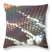 Rainbow Scales Throw Pillow