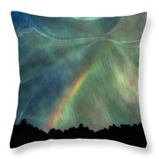 Rainbow Showers Throw Pillow