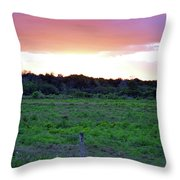 Rainbow Sky Throw Pillow