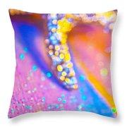Rainbow Spell And Starfish Throw Pillow