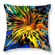 Rainbow Thunder Well Throw Pillow