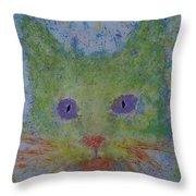 Rainbow Tomcat Throw Pillow