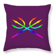 Rainbow Tridents Throw Pillow