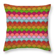 Rainbow Unicorn Scales Throw Pillow