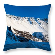 Rainbow Wall In Winter Throw Pillow