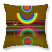 Rainbow Warrior Throw Pillow
