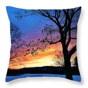Rainbowed Sunrise Throw Pillow
