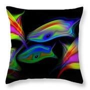 Rainbowfish3 Throw Pillow
