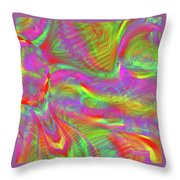 Rainbowlicious Throw Pillow