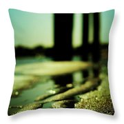Rainbows In The Sand Throw Pillow