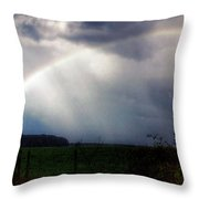 Ranchette Rainbow Throw Pillow