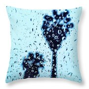 Raindrop Palms Throw Pillow